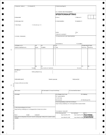 Endlos-Speditionsauftrag VDA 4922